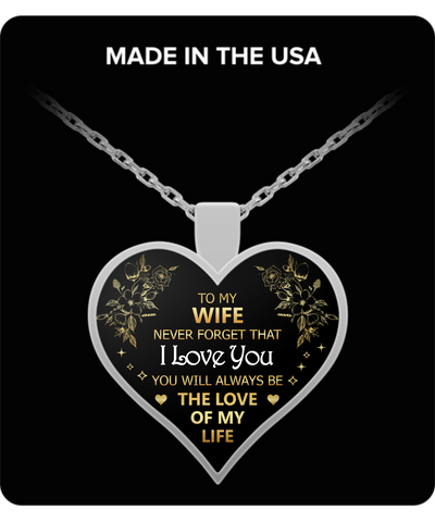 To My Wife Merry Christmas - I Love You Necklace