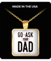 Mom Square Pendant Necklace – Go Ask Your Dad