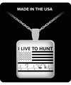 Hunter Square Pendant Necklace – I Live To Hunt