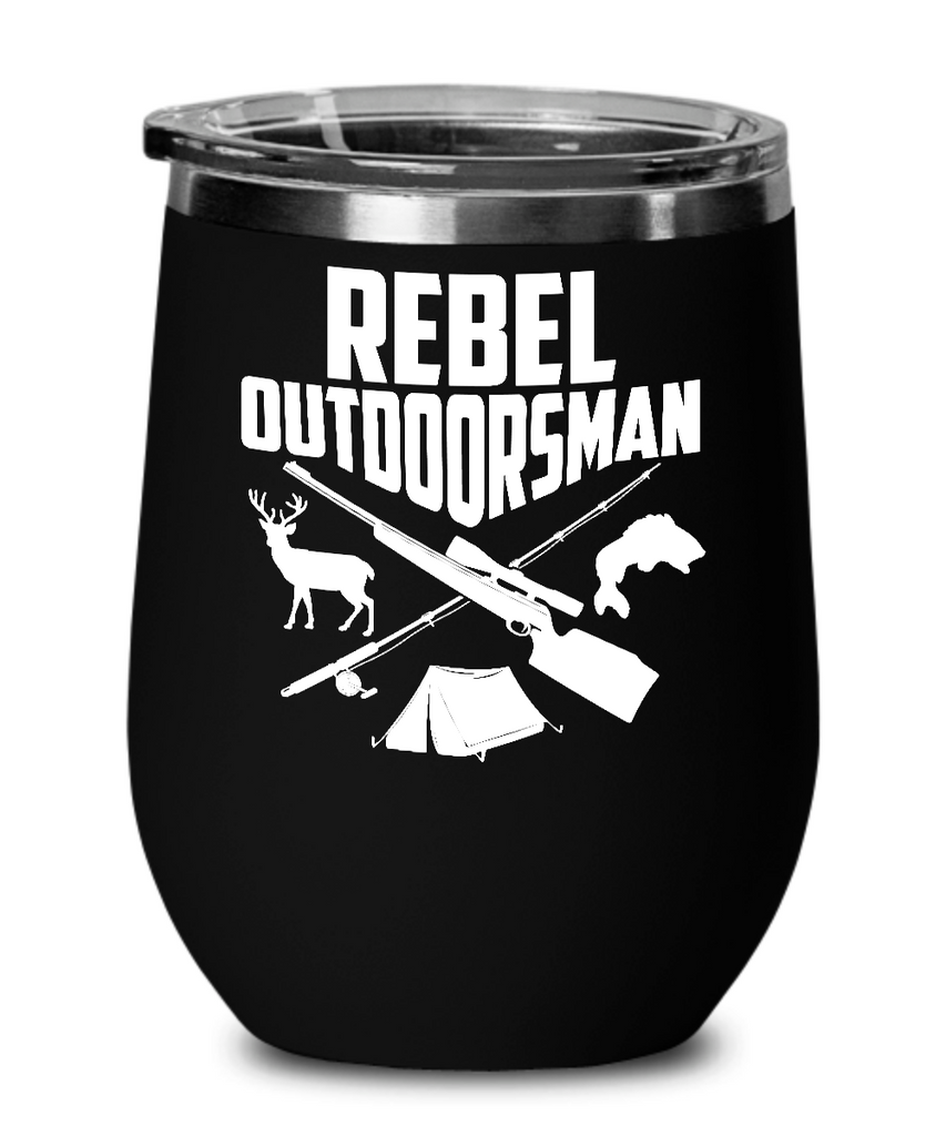 Rebel Outdoorsman Wine Glass