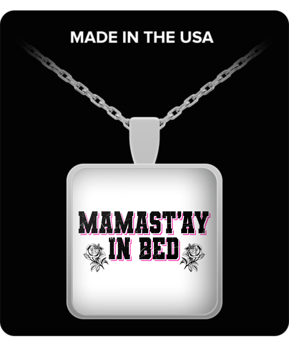 Mom Square Pendant Necklace - Mamastay In Bed