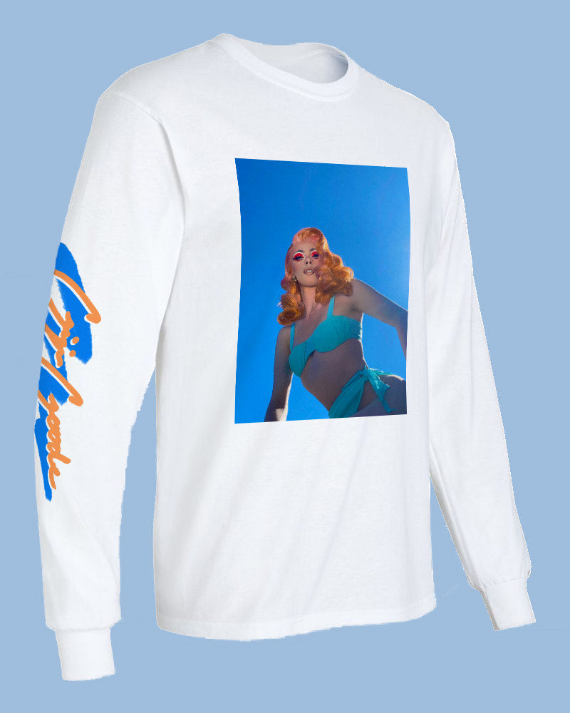 'True Blue' Gigi Long Sleeve T - regular price $45/now $36