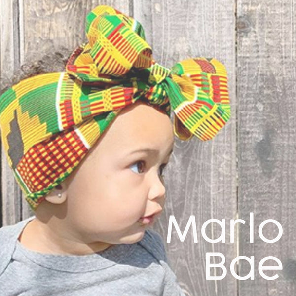 marlo bae head wrap for babies kids handmade fashion prints makers loft boutique oakland gift shop