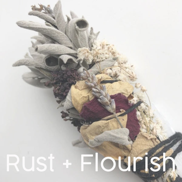 rust and flourish dried bouquets smudge sticks oakland boutique gift shop