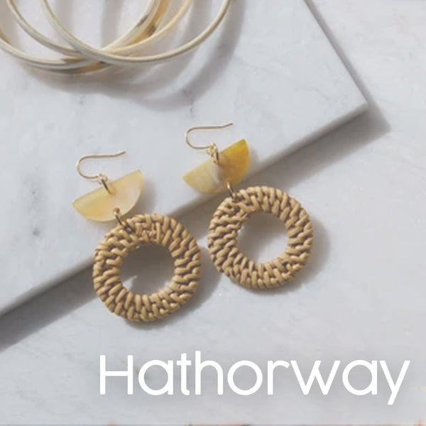 Hathorway sustainable jewelry accessories at maker's Loft boutique gift shop oakland california