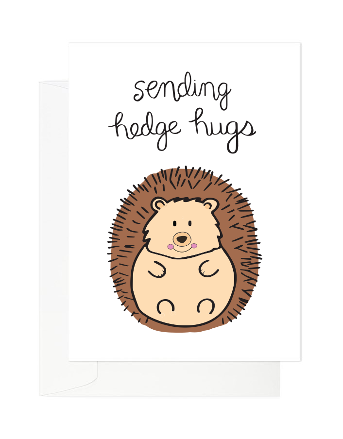 Tomkcy - Sending hedgehugs card