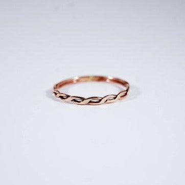 Chain Ring, Rose Gold