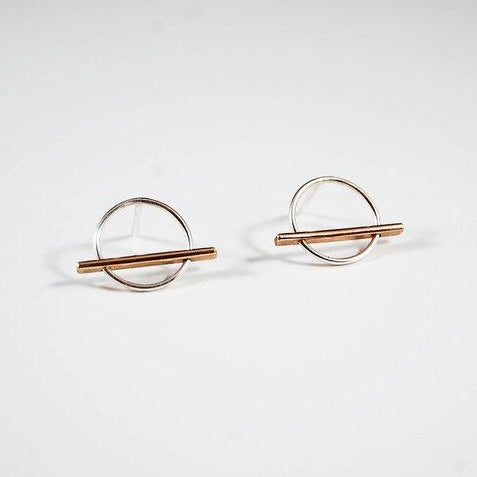 Horizon Studs, Mixed Metal