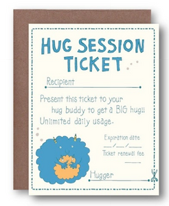 Hug Session Ticket Card
