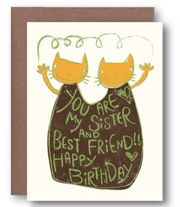 Sister/Best Fried Birthday Card