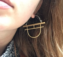 Load image into Gallery viewer, TORII GATE EARRINGS - BRASS
