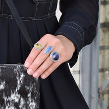 Load image into Gallery viewer, Denim Lapis Stone Ring, size 7.5
