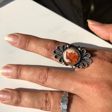 Load image into Gallery viewer, Jasper Pink Stone Ring, size 6