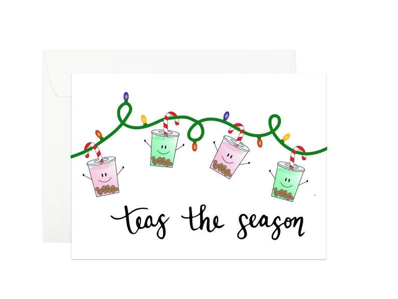 """Teas the Season"" Card"
