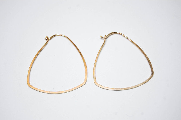 Triangle Hoops, Gold