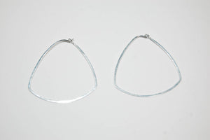 Triangle Hoops, Silver