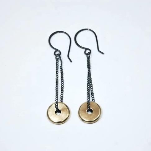 Brass Coin Earrings