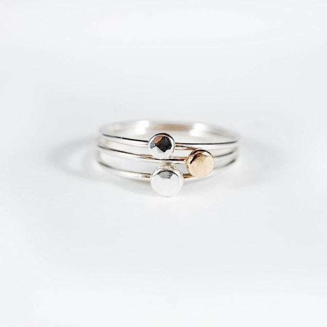 Dot Stacking Ring, Silver