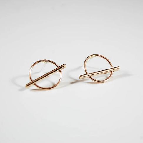 Horizon Studs, Gold