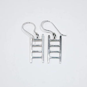 Ladder Small Earrings, Silver