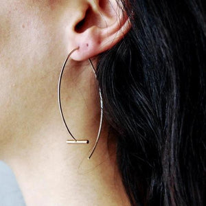Pendulum Large Earrings, rose gold