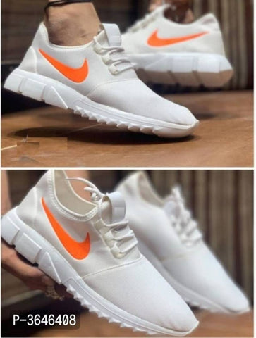 Ultra Light White Breathable Comfy Casual Sports Sneakers For Men