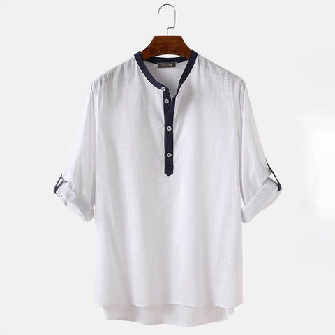 Designer White Cotton Solid Casual Shirt For Men