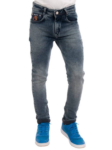 Modern Grey Cotton Blend Regular Fit Jeans For Men
