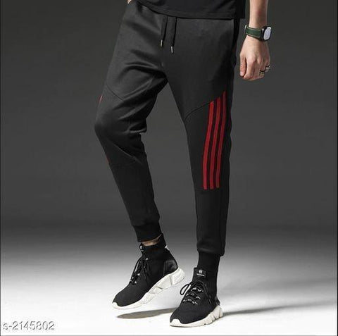 RED STRIPED TRACK PANT