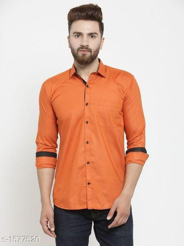 TRENDY ORANGE SHIRT