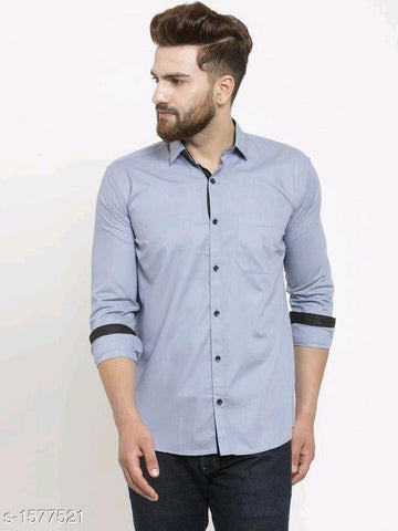 TRENDY BLUE SHIRT