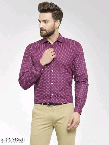 MAROON ELITE COTTON MEN'S SHIRT