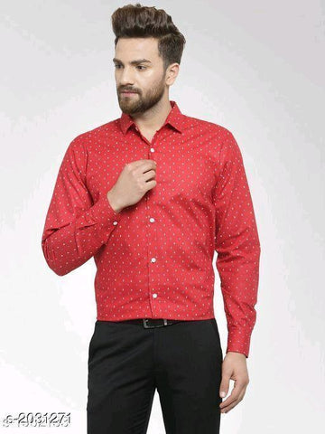 RED ELITE COTTON MEN'S SHIRT