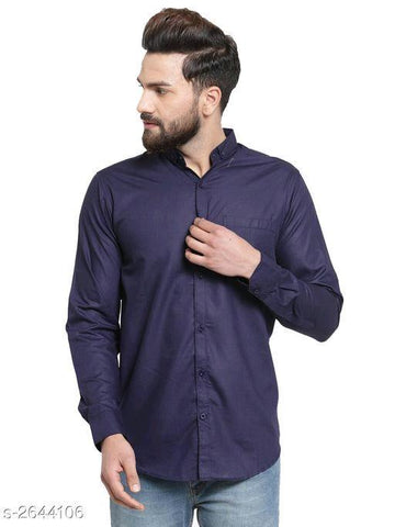 BLUE STYLISH COTTON MEN'S SHIRT