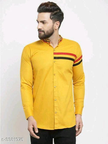 ELEGANT STYLISH MEN'S YELLOW SHIRT