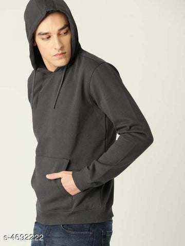 Attractive Men's Cotton Slim Fit Hoodie