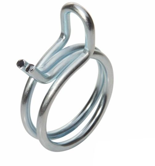 Double Wire Hose Clamp - 33.9-35.7mm - Zinc Plated Steel
