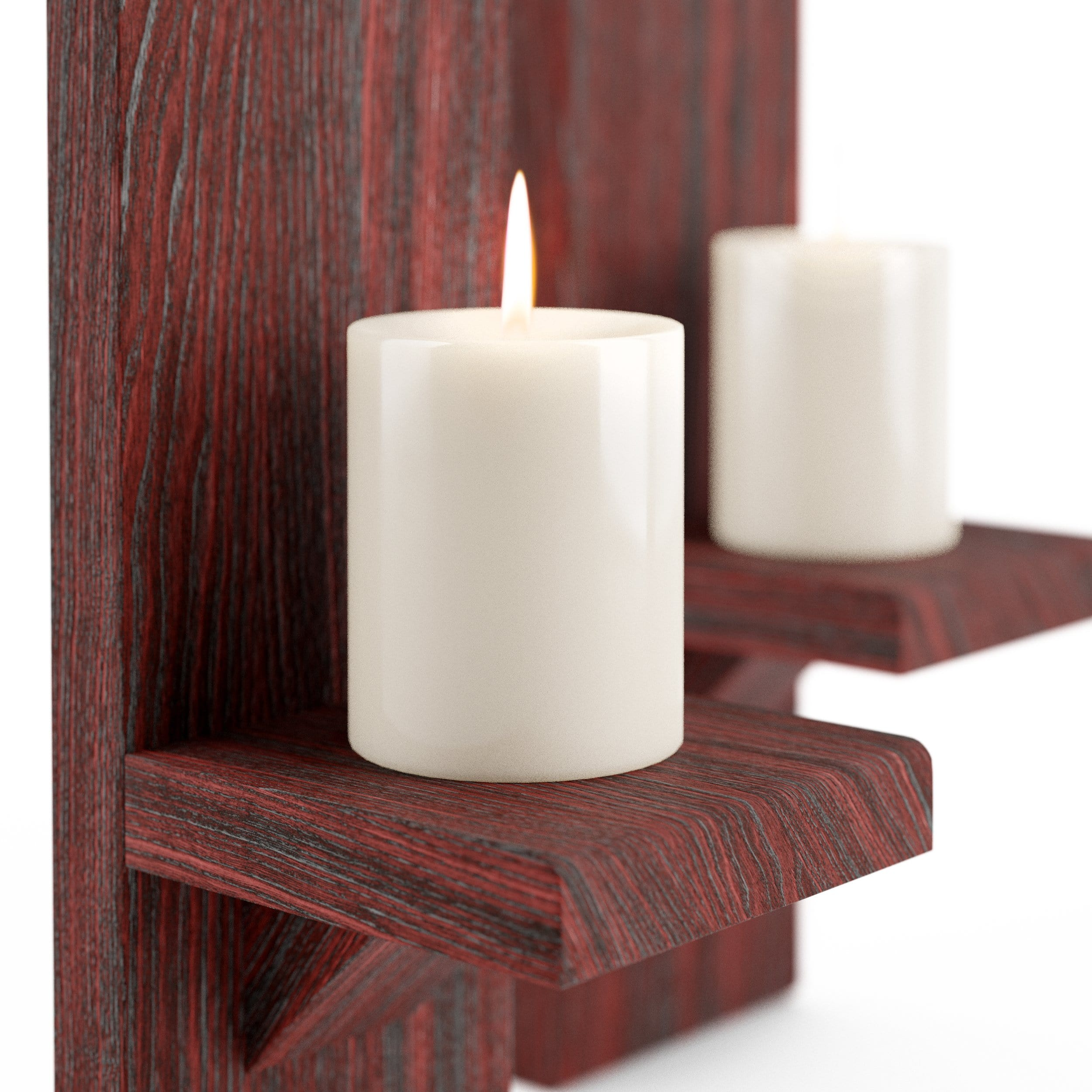 Large Cherry Wall-Mounted Candle Sconces - LocalBeavers