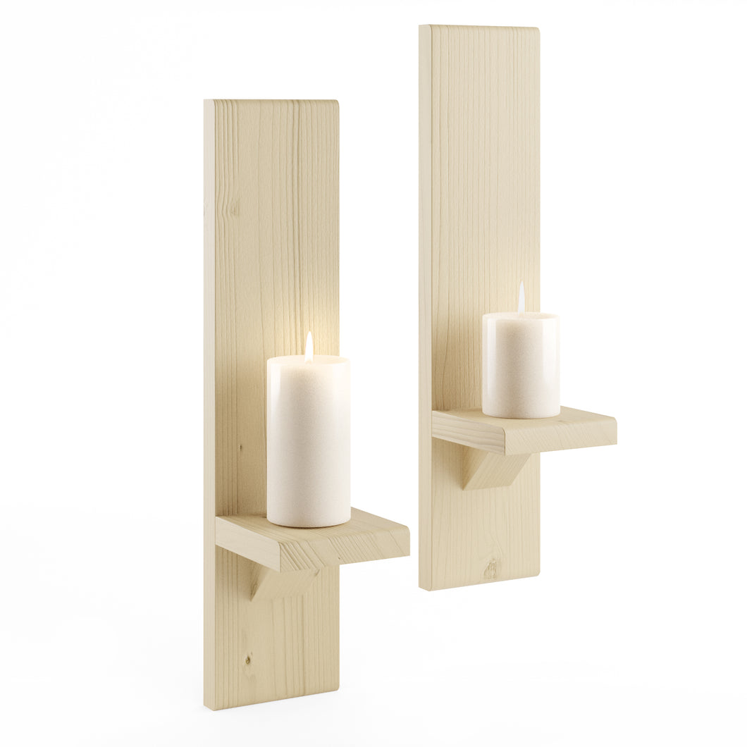 Large Natural Wall-Mounted Candle Sconces - LocalBeavers