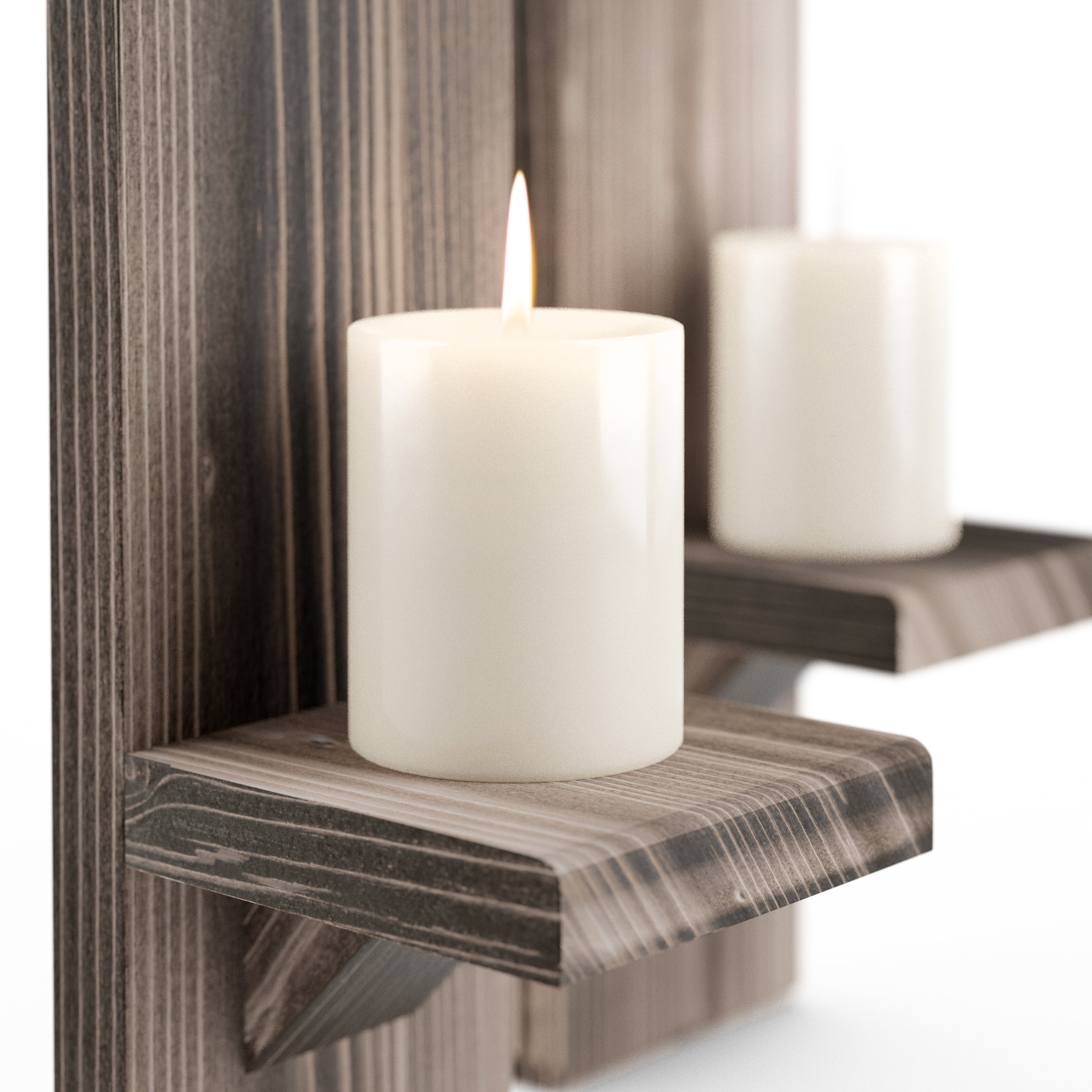 Large Rustic Wall-Mounted Candle Sconces - LocalBeavers