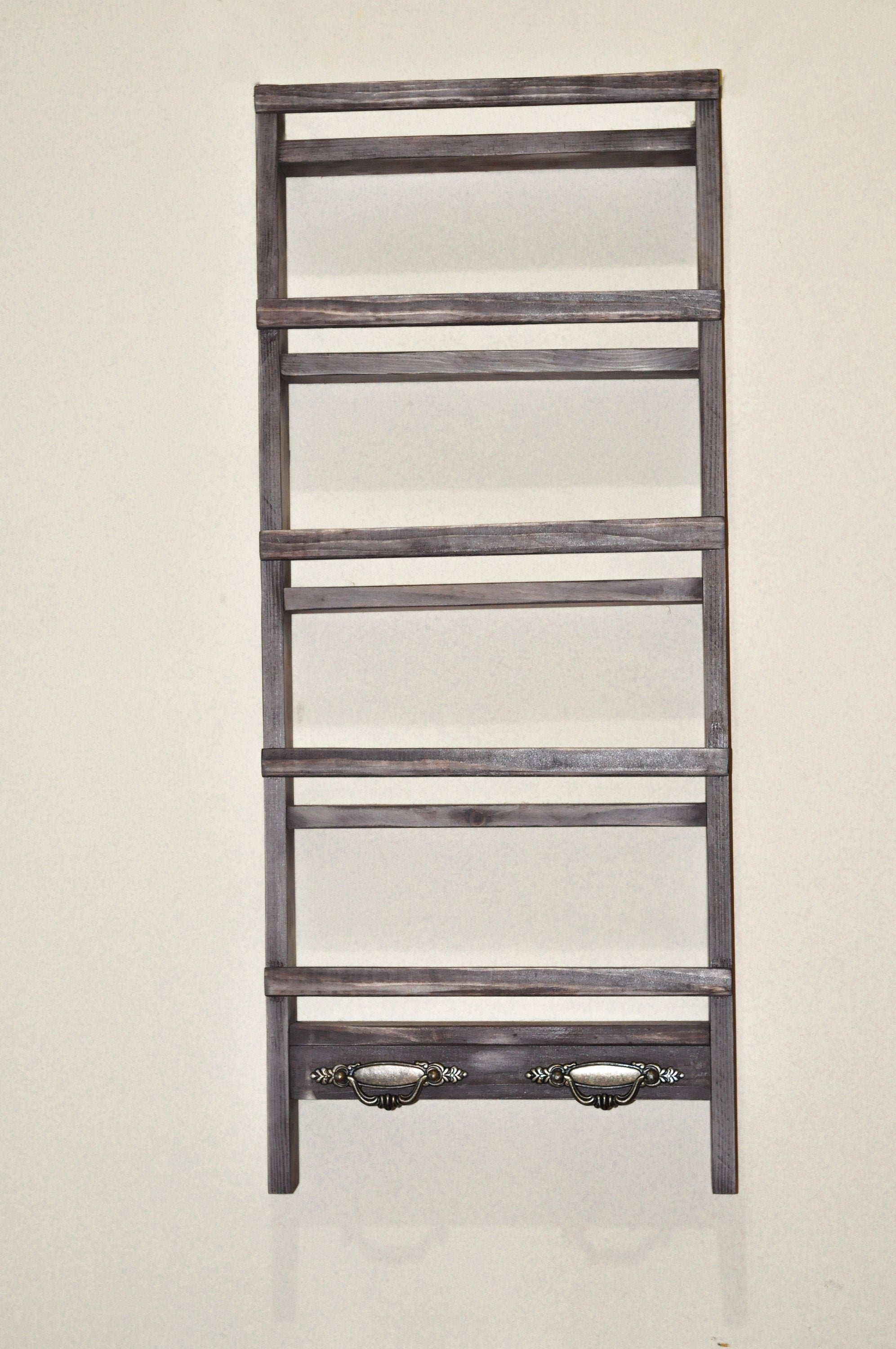 Large Farmhouse Spice Rack With Towel Holders - LocalBeavers