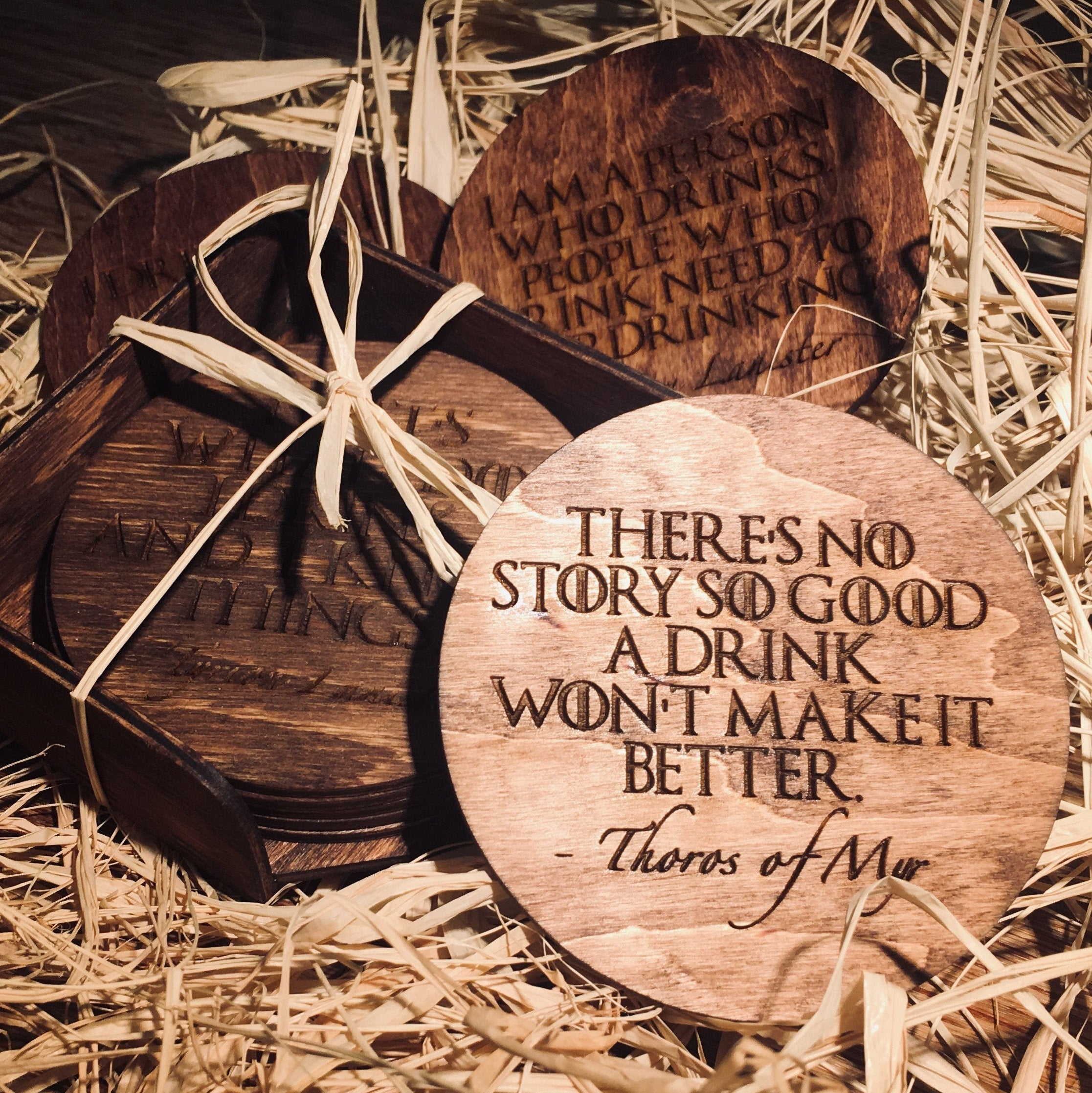 Game Of Thrones Quotes Wooden Coasters - LocalBeavers