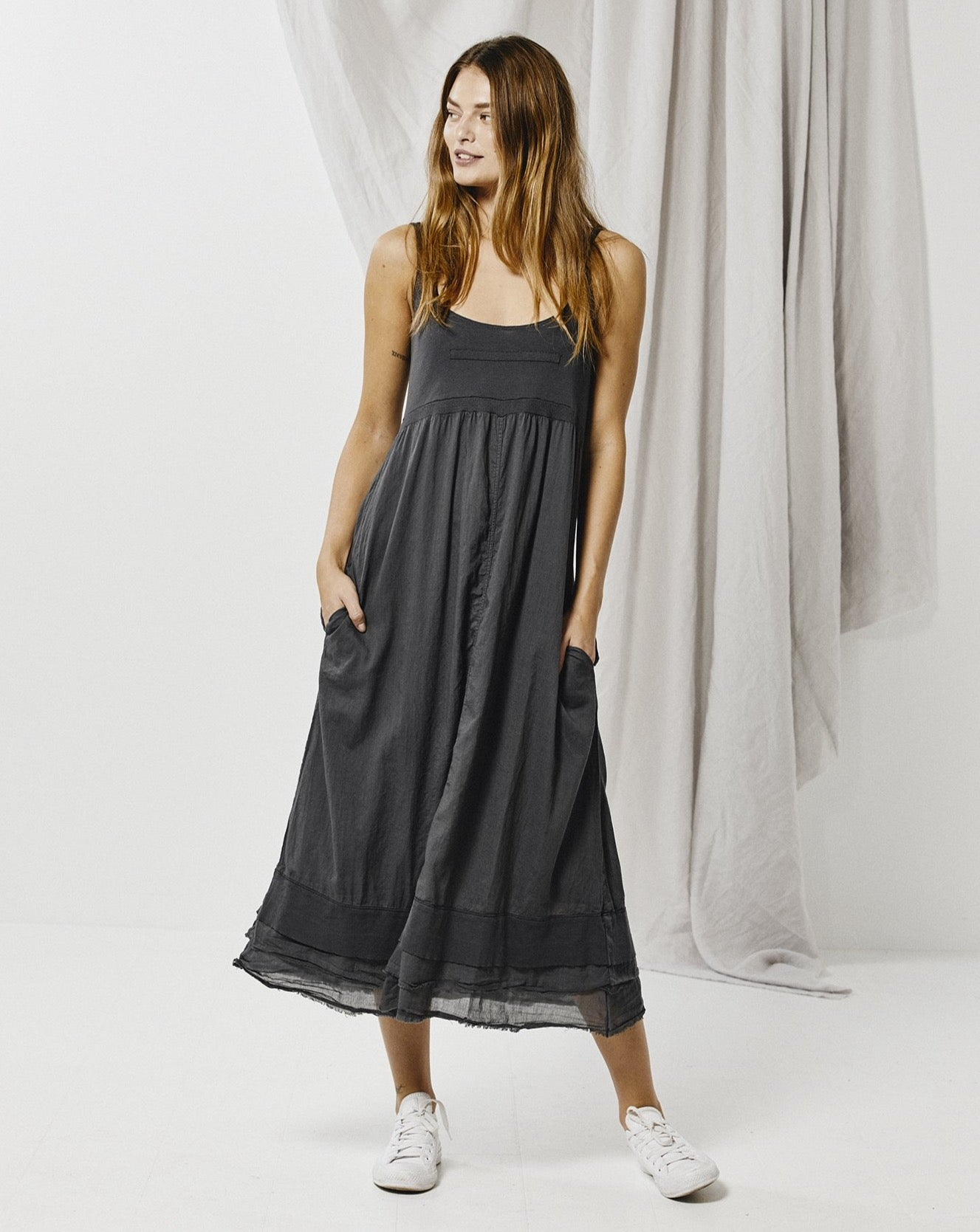 Cotton Strap Dress