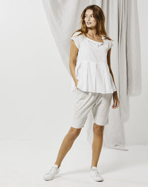 Pleated Frill Top