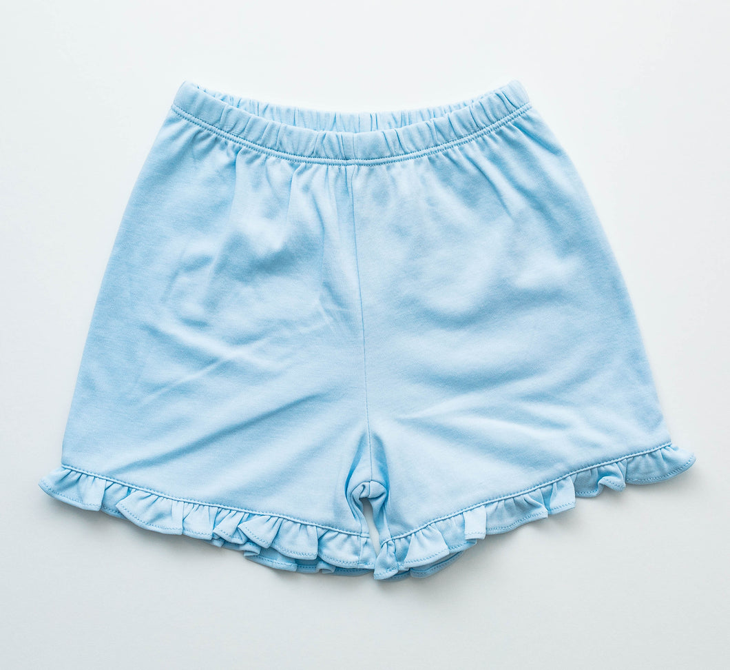 Girl Knit Shorts - Light Blue