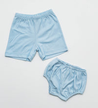 Load image into Gallery viewer, Boy Knit Shorts - Light Blue