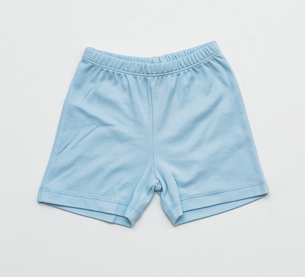 Boy Knit Shorts - Light Blue