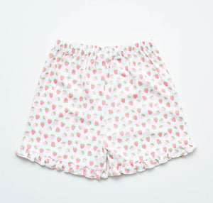 Girl Knit Shorts - Strawberry
