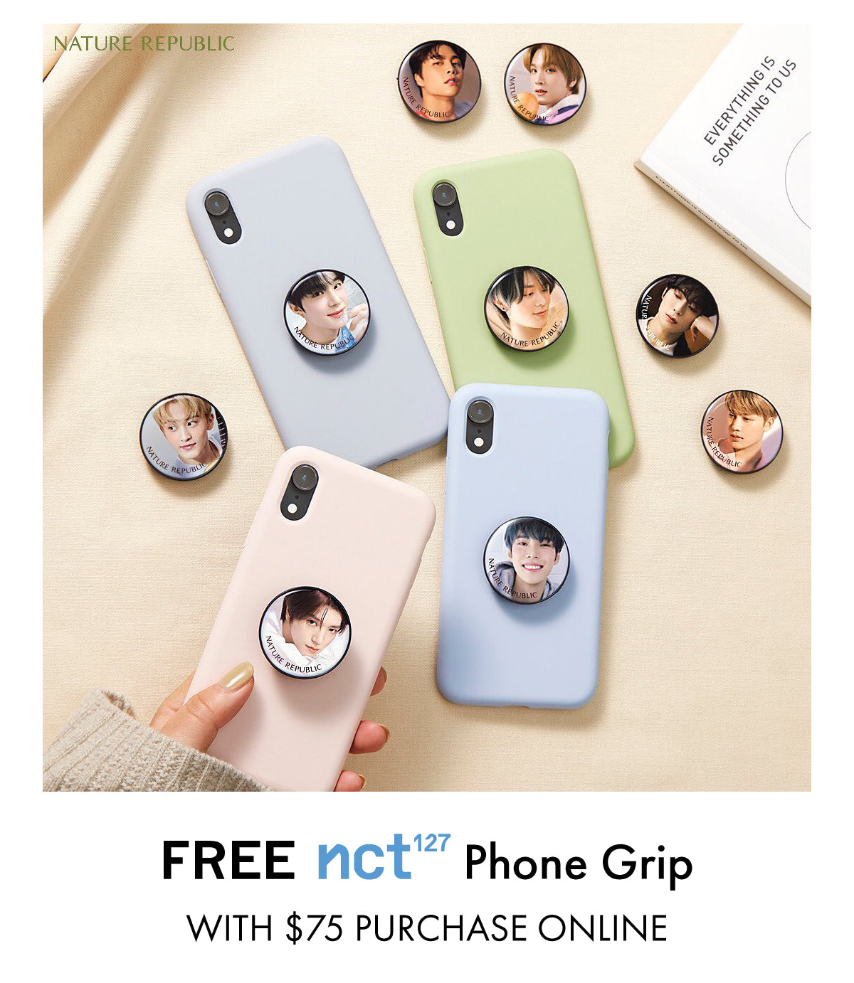 Free NCT127 phone grip with $75 purchase