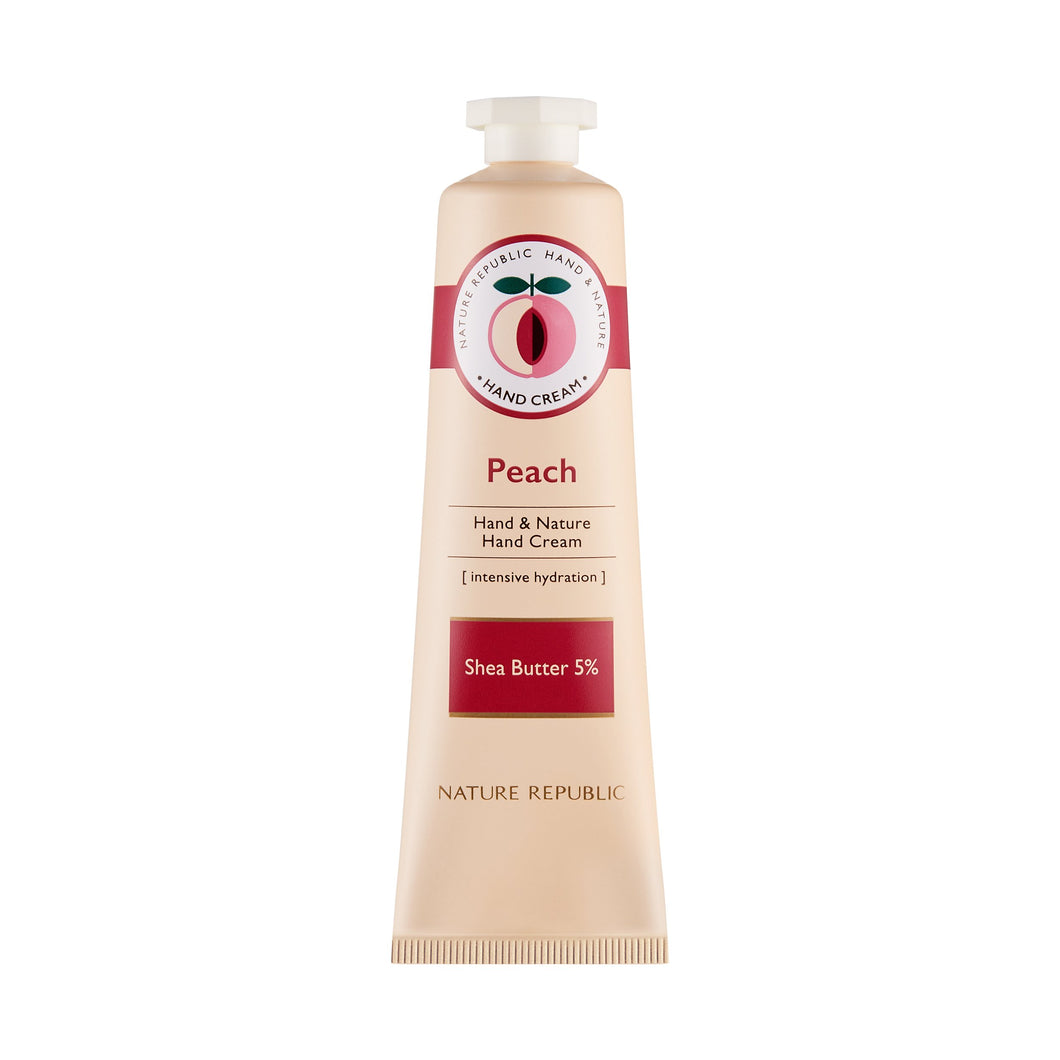 Hand & Nature Hand Cream Peach